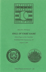 Hall of Fame Game Program