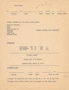 Early SP78 Test Sheet #1