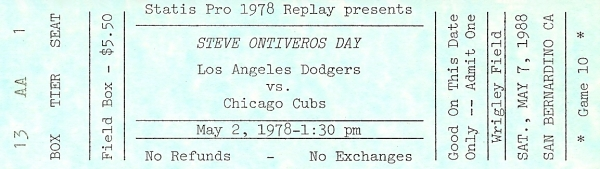 Ticket - Steve Ontiveros Day