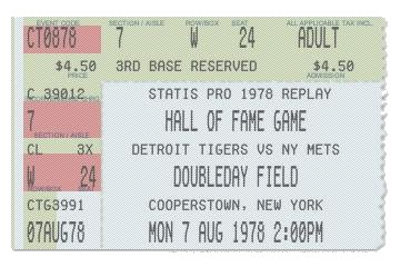 Ticket - Hall of Fame Game - 6/29/15
