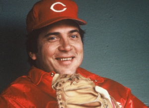 Johnny Bench in dugout