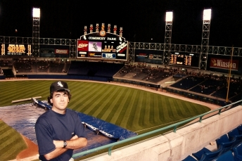 Todd at Comiskey Park