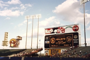 The View from our Seats at County Stadium, Milwaukee - 7-28-93