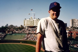 Chicago, 1993 - Steve Inside Wrigley Field