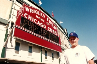 Steve Outside of Wrigley Field - 7-30-93