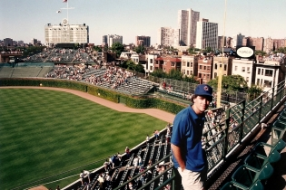 Todd Enjoys the Post-Game Atmosphere at Wrigley - 7-30-93