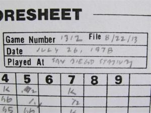 Game #1312 Scoresheet