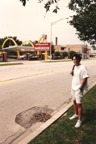 Todd at the McDonald's Museum, Des Plaines - 7-27-93