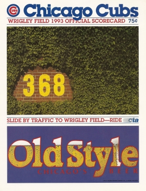 Cubs Scorecard 7-31-93
