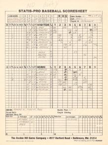 SP78 Scoresheet #51x - 6/28/81