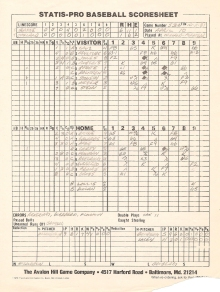 SP78 Scoresheet #53x - 10/11/81