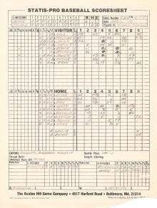 SP78 Scoresheet #53x - 10/11/81