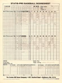 SP78 Scoresheet #1 - 8/22/80