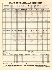 SP78 Scoresheet #1 - 8/22/80