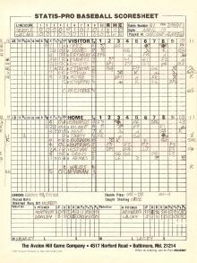 SP78 Scoresheet #51 - 7/5/81