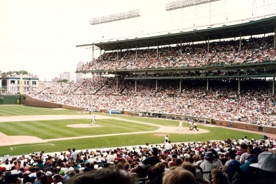 View of Cubs Game 7-31-93