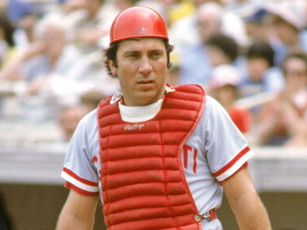 Reds catcher Johnny Bench