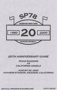 '20th Anniversary Game' Program