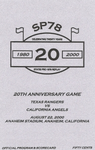 '20th Anniversary Game' Program