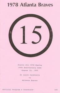 'SP78 15th Anniversary' Program