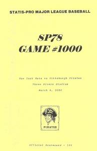'Game #1000' Scorecard