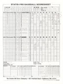 "SP78 Game #232 Scoresheet – ""23-2"" – 3/9/88"